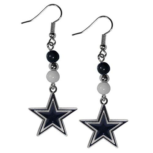 NFL Dallas Cowboys Fan Bead Dangle Earrings