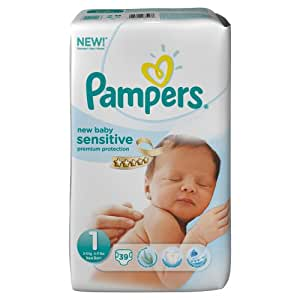 Pampers New Baby Sensitive 1 (Newborn) - (Pack of 2)