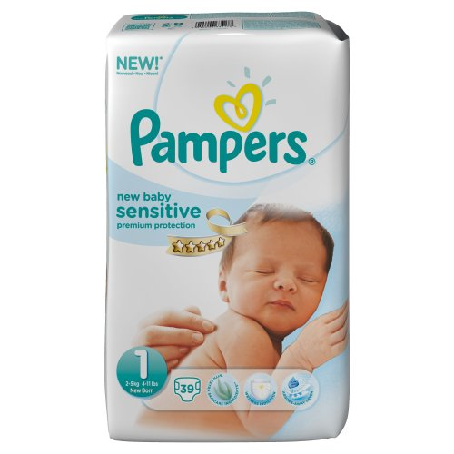 Pampers New Baby Sensitive 39 Couches 2-5 kg