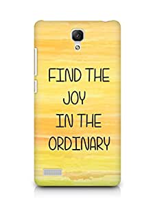 AMEZ find the joy in the ordinary Back Cover For Xiaomi Redmi Note 4G