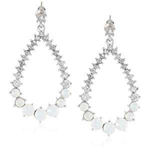 Adia Kibur Rhinestone Tear Drop Earrings