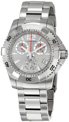 Longines Men's L36504766 HydroConquest Quartz Chronograph Silver Chronograph Dial Watch
