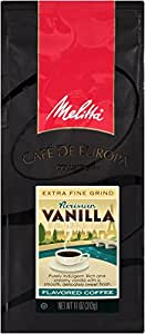 Melitta Café de Europa Gourmet Coffee, Parisian Vanilla Ground, Flavored, 11-Ounce (Pack of 3)