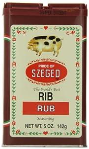 Szeged Rib Rub, 5-Ounce Tins (Pack of 6)