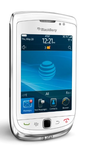 BlackBerry Torch 9800 Phone, White (AT&T)