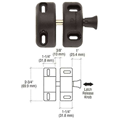 "Crl Black Magna-Latch ""Side Pull"" Gate Latch By Cr Laurence front-280822"