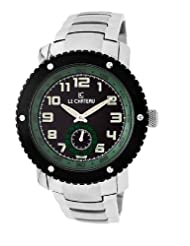 Le Chateau Men's 5411M_BLKandGRE Sports Dinamica Collection Sub-second Hand Watch