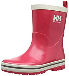 Helly Hansen JK Midsund Rain Boot (Toddler/Little Kid/Big Kid), Magenta/Off White/Silver, 4 M US Big Kid