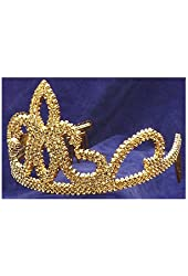Forum Novelties Gold Plastic Princess Tiara with Combs