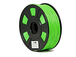 GP3D ABS Green 3D Printer Filament - 1KG 1.75mm 2.2lbs. Compatible With 3D Printers Reprap, Makerbot Replicator 2, Makergear M2 and up, Afinia, Solidoodle 2, Printrbot by GP3D