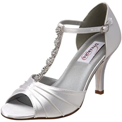 Dyeables Women's Makayla Sandal, White, 5 M US