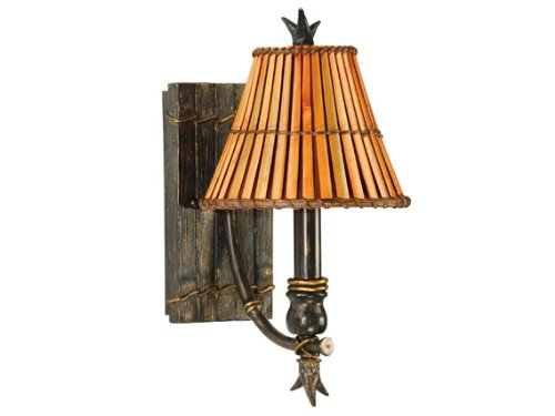 Kenroy Home 90451BH Kwai 1-Light Wall Sconce with Split Bamboo Shade, Bronze Heritage Reviews
