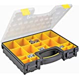 Heavy Duty 20 Bin Portable Parts (Nuts, Bolts, etc.) Storage Organizer Case with Built-in Carrying Handle