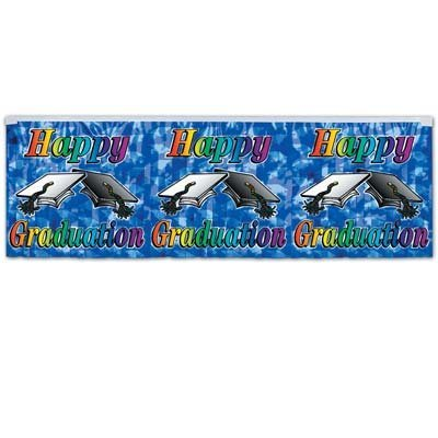 "Package of 1 ""Happy Graduation"" Fringe Banner/Graduation Party Supplies/Party Decorations/Graduation Banners"