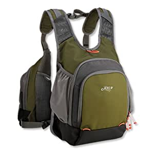 Orvis safe passage tri pack fishing vest willow green for Fishing vest amazon