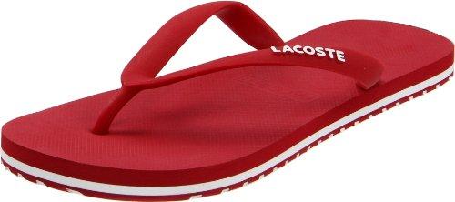 Lacoste Men'S Nosara Thong Sandal,Red/White,10 M Us front-887924