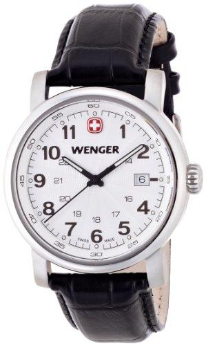 wenger - 011041102 - Montre Homme - Quartz - Analogique - Bracelet Cuir Noir