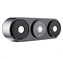 [Powerful 2X5W Bluetooth Speakers Enhanced Bass] ZENBRE Z3 Wireless Computer Speakers, Portable Bluetooth Speaker Stereo Systems with Powered Subwoofer, FM Radio, Built-in 1800mAh Rechargeable Battery, Mic, Audio Jack, Micro USB Slot, Support TF Card and
