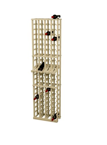 Wine Cellar Innovations Rustic Pine Wine Rack With Display Row For 80 Wine Bottles, 4 Column, Unstained front-535674