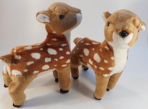 2er Set Reh Rehkitz Bambi 28 cm