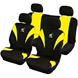 Carpoint 0310130 8-Piece Car Seat Cover Set 'Bee'