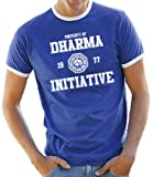 Lost Dharma University Ringer / Contrast T-Shirt Royal/White, L