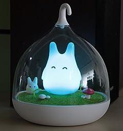 Oisk® Children\'s Night Lights Hand-held Design Touch Sensor Vibration Birdcage Lamp Xmas Bedside Night Lights Charging for Kids, Baby ,Valentines Gift,Outdoor Lamp (Blue)