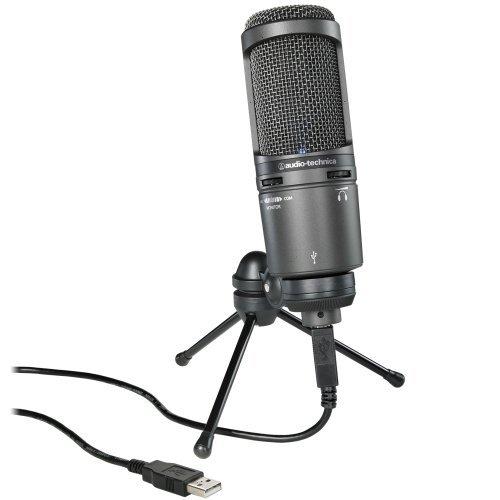 Audio-Technica At2020Usbplus Deluxe Usb Cardioid Condenser Microphone Portable Consumer Electronics Home Gadget