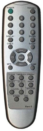 Replacement Remote Control For Sharp Televisions No Programming Needed Sleek Silver Finish