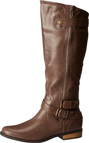 Rampage Women's Hansel Riding Boot, Brown, 8 M US