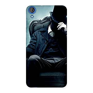 Stylish Sitting Hat Man Back Case Cover for HTC Desire 820s