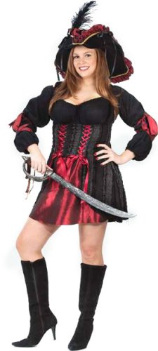 Womens Plus Size Stitch Pirate Costume SZ 16-20