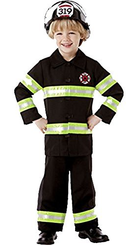 Amscan Little Boy's Firefighter Costume Black (Medium, Black)