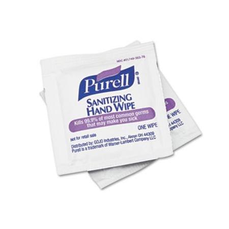 Gojo® Purell Premoistened Sanitizing Hand Wipes, 5 X 7, 100/Box front-735929