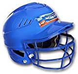 Rawlings CFBHSBFG COOLFLO® One Size Fits All Softball Batting Helmet (with SBRWG Faceguard)