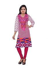 KIMYRAA Women's Cotton Kurta (KLK-1001-PINK-XXL)