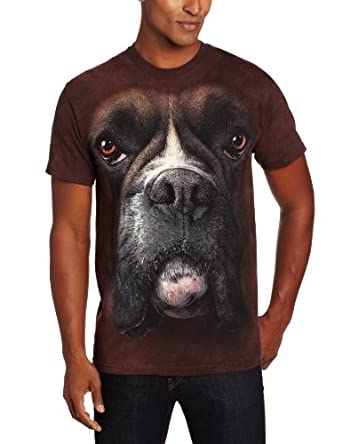 The Mountain Boxer Face Adult T-shirt S