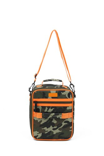 Sachi Cross-Body Insulated Lunch Tote, Style 225-250, Green Camo