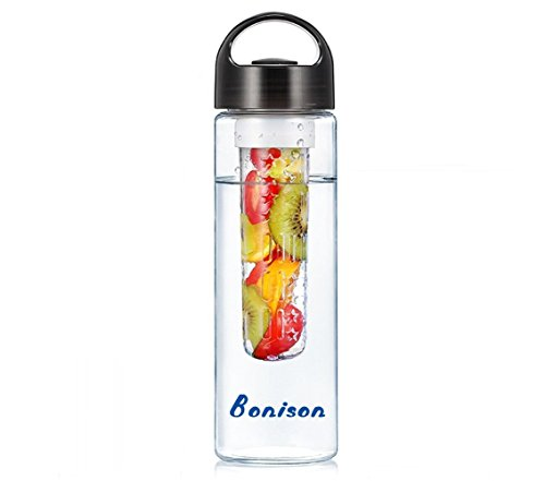 Sales-Handle Leak Proof Sporty Fruit Infuser Water Bottle BPA-Free Shatter-Proof Water Bottle BPA-Free Shatter-Proof Tritan. Create Naturally Flavored Fruit Infused Water, Juice, Iced Tea, Lemonade For Hike,yoga,Gym,Exercise 23 Oz-black (Her Husband Made Her Do Him compare prices)