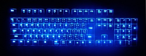 オウルテック Cherry社製「青軸」メカニカルキースイッチ採用 109フルキー日本語キーボード LEDキートップ 輝度3段階調節可能 ブラック OWL-KB109LBMN(B)