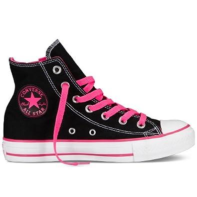 CONVERSE Women's CTAS Side Zip (Black/Ko Pink 10.0 M)
