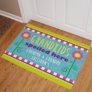 Personalized Let The Spoiling Begin Doormats Personalized Grandparents