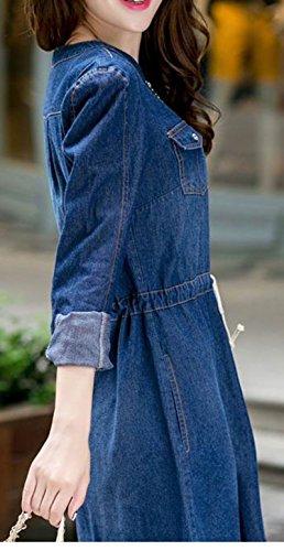WantDo Women's Preppy Style Slim Denim Overalls dress 9823