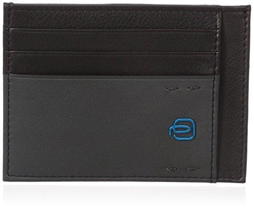 Piquadro PP2762P15/N Porta carte di credito, Linea Pulse, Nero, 11 cm