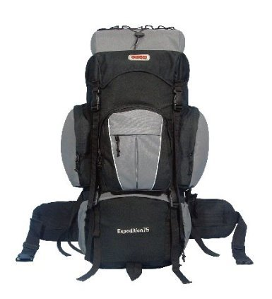 New Cuscus 75+10L Internal Frame Hiking Camp Travel Backpack - Gray front-141695