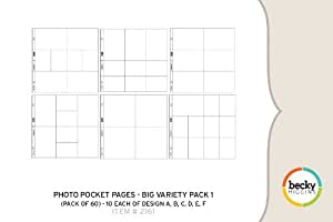 Becky Higgins Photo Pocket Pages - Big Variety Pack 1 (60 Pages)