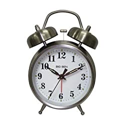 Westclox Alarm Clock 4 Quartz Movement Brushed Nickel Case Metal Case 1 Aa Battery by Nyl Holdings