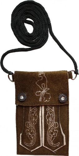 Trendige-Trachten-Handytasche-fr-Iphone-handy-Leder-tasche-FrabeHellbraun