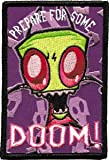 Invader Zim Prepare For Doom Logo Embroidered Iron On Patch IZ-23