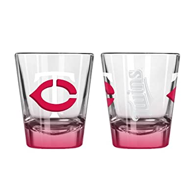 MLB Minnesota Twins Elite Shot Glass Set (2-Pack), 2-Ounce